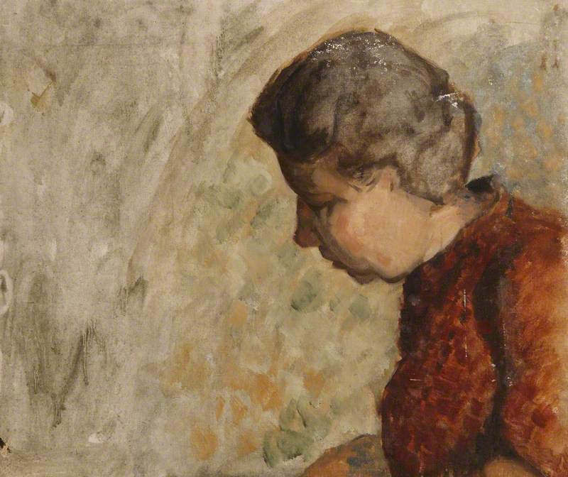 Study of a Woman in Profile, Looking Down