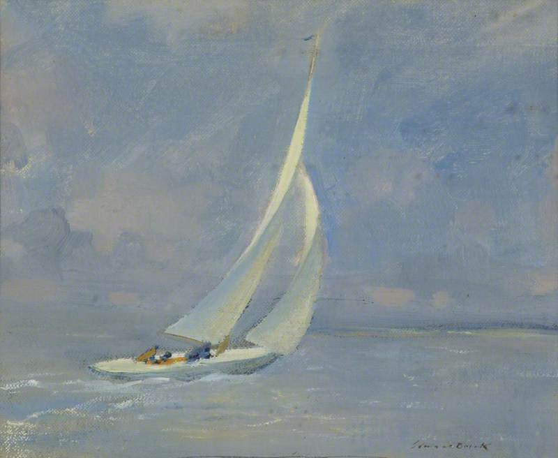 The Yacht 'Uladh' Sailing with the Wind, 28th July 1934