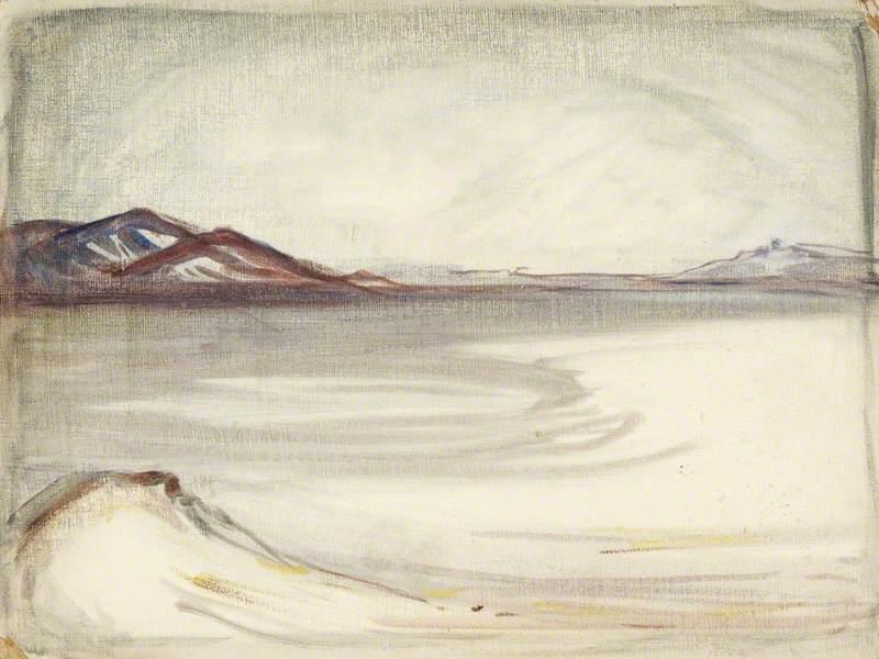 A Sketch of a Lakeside Scene