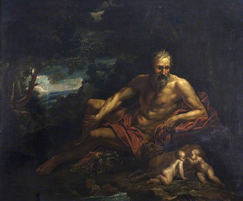 Romulus and Remus with the River God Tiber
