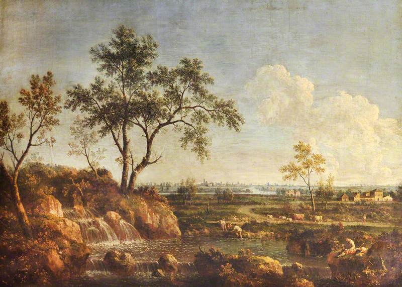 A Landscape with a Waterfall