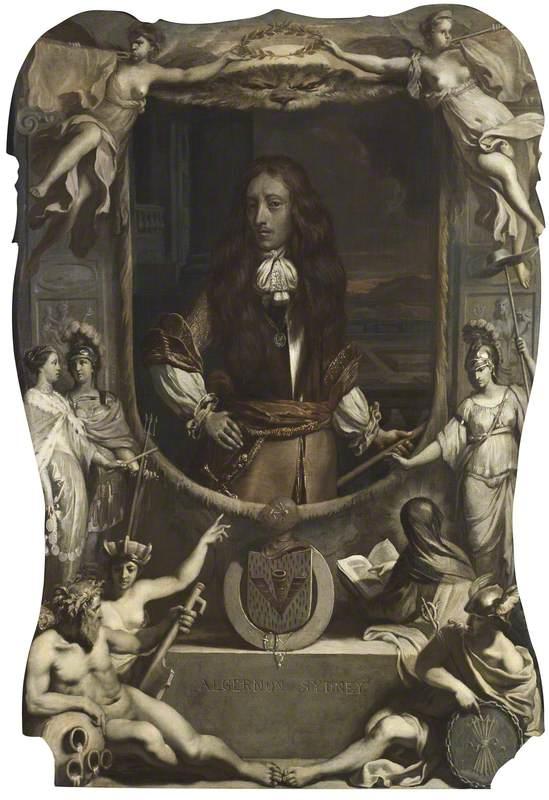 An Allegorical Posthumous Portrait of Algernon Sidney (1622–1683), en Grisaille