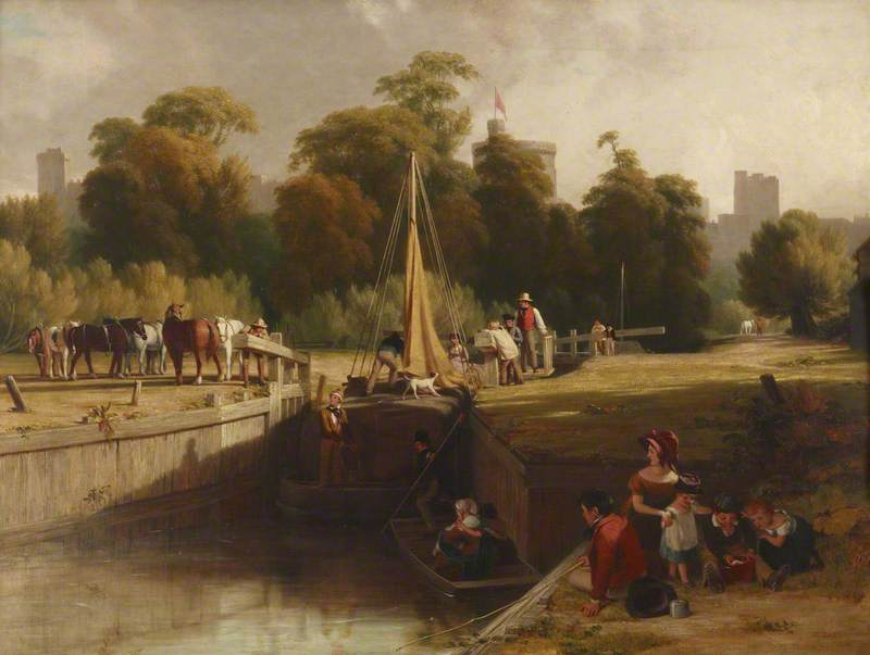 The Old Lock, Windsor, 1817