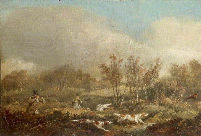 Pheasant-Shooting: Two Guns and Pointers