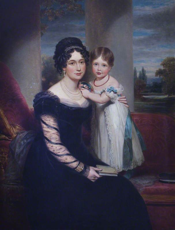 Queen Victoria (1819–1901), as a Child with Her Mother, Maria Louisa Victoria of Saxe-Coburg-Saalfield (1786–1861), Duchess of Kent