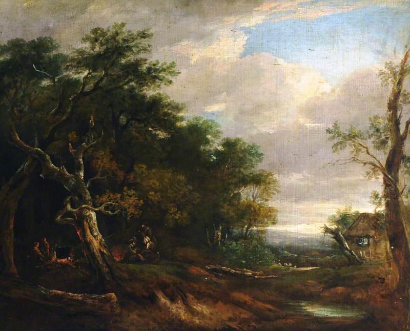 A Woodland River Landscape