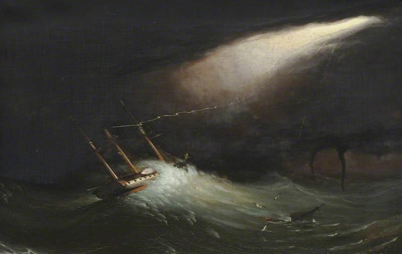 HMS 'Melpomene' in Distress, 17 November 1805