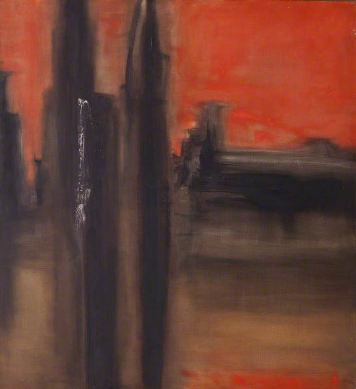 Paris (Red and Brown Abstract)