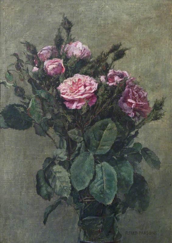 A Bunch of London Market Garden Moss Roses