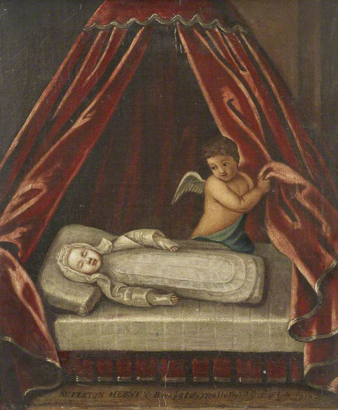 The Infant The Honourable Felton Hervey (3 July 1710–16 July 1710), Laid out in Death