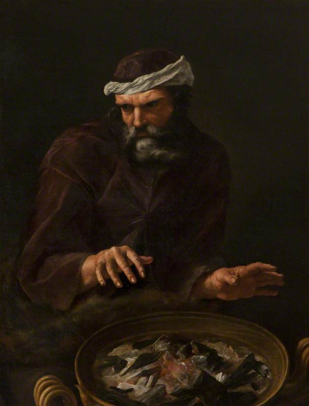 Winter: A Bearded Man Warming His Hands