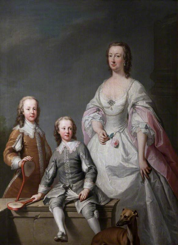 Mary Assheton (1695–1776), Lady Curzon, with Her Two Sons, Nathaniel Curzon (1726–1804), 1st Baron Scarsdale, and Assheton Curzon (1729–1820), 1st Viscount Curzon