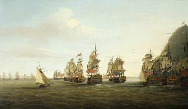 A British Squadron off St Lucia, 25 March 1780