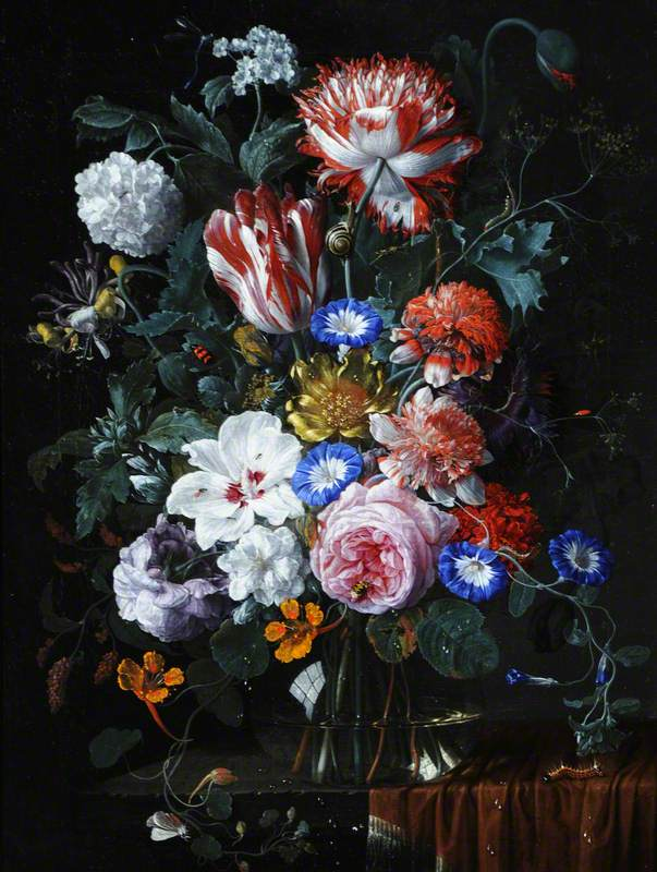 Flower Piece with Tulips, Roses, Convolvuli and Other Flowers