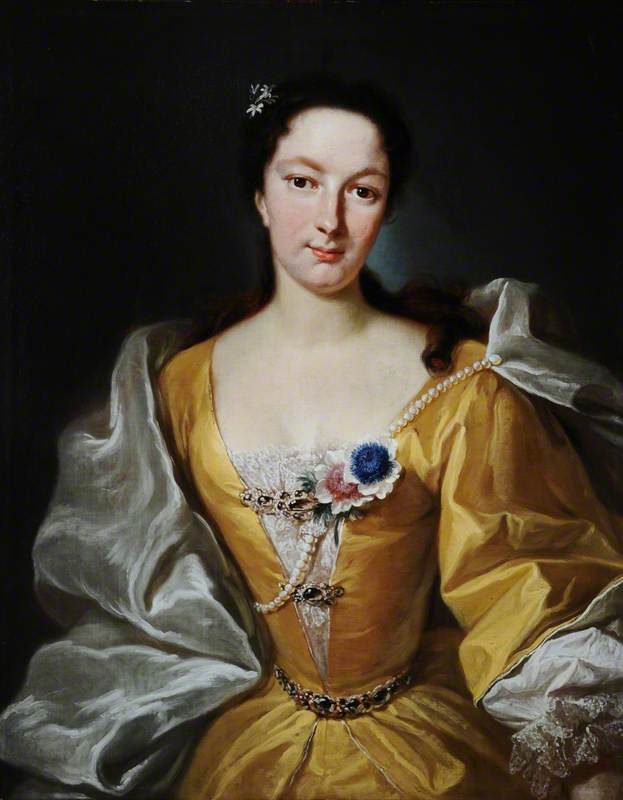 Portrait of a Lady of the d'Hervart Family in a Yellow Dress, with Flowers in Her Corsage