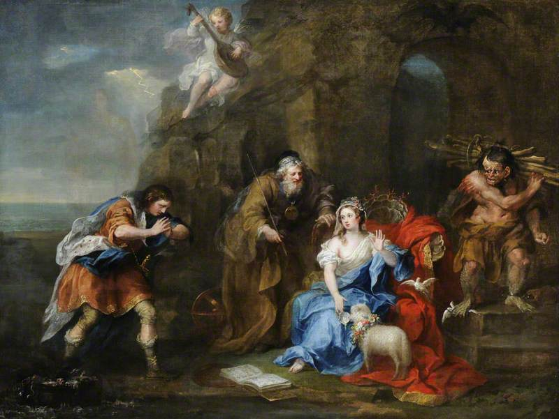 A Scene from Act I, Scene 2 of 'The Tempest'