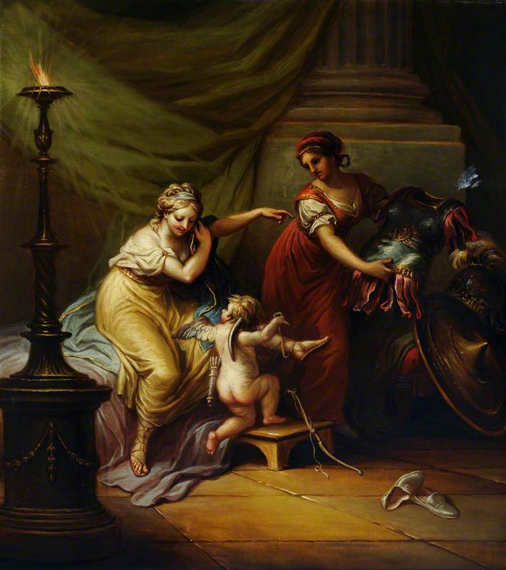 Cupid Preparing Venus for an Amorous Encounter with Mars