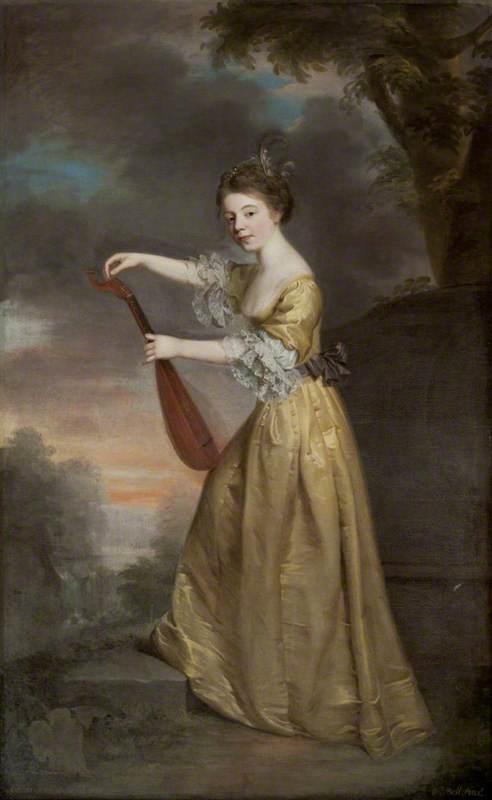 Sophia Anne Delaval (1755–1793), Later Mrs Jadis, Tuning a Mandolin in a Landscape Setting