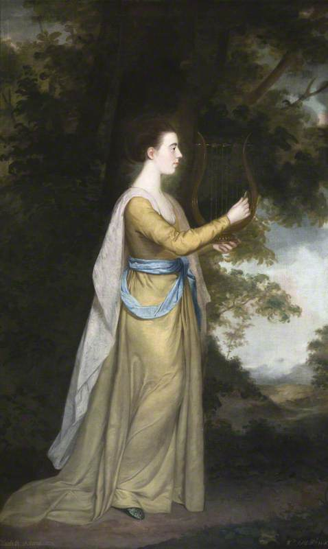 Elizabeth Delaval (1757–1785), Later Lady Audley, Playing a Lyre in a Landscape