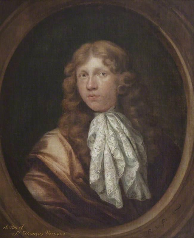 Inscribed as 'A Son of Sir Thomas Vernon'