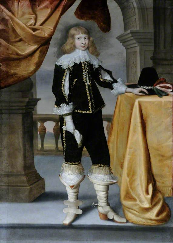 Portrait of an Unknown Boy in a Grand Setting