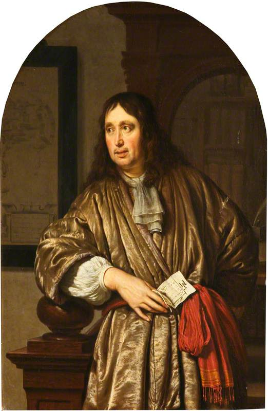 Portrait of a Merchant in a Banyan, Holding a Business Document