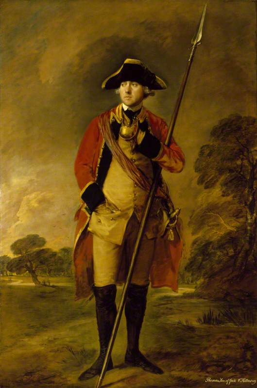 The Honourable Thomas Needham (d.1773), in the Uniform of the 3rd Footguards at Ascott, Buckinghamshire