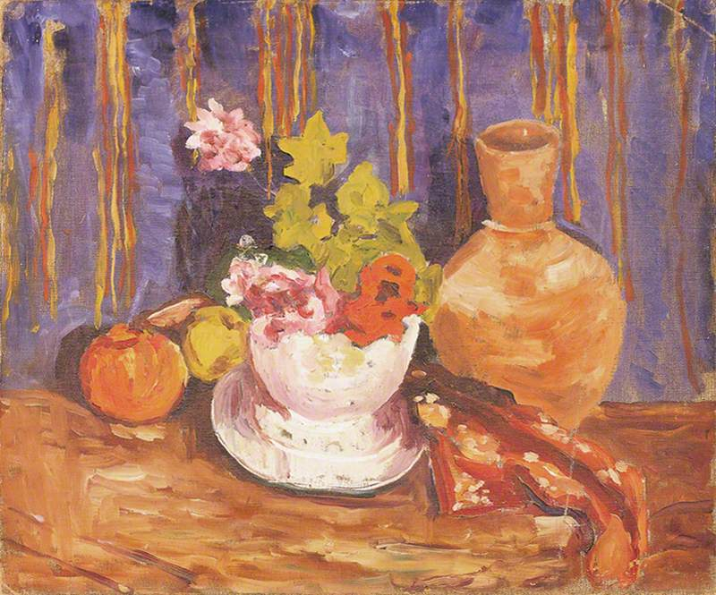 Flowers in a White Bowl