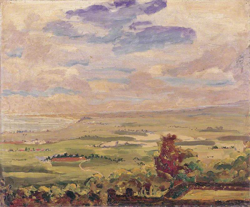 View over Lympne Marshes, Kent