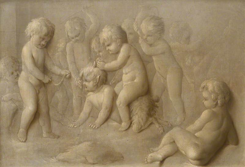 Cupids playing with an Infant Satyr
