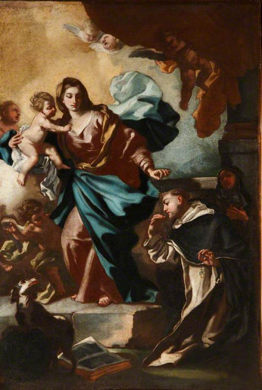 The Madonna and Child Presenting Saint Dominic with the Rosary