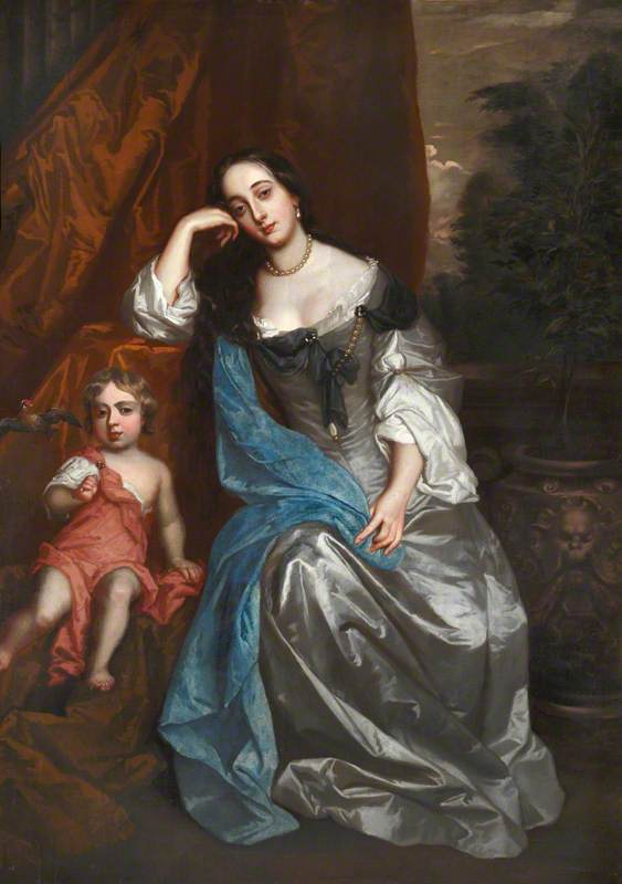 Barbara Villiers (1641–1709), Countess of Castlemaine and Duchess of Cleveland, with Her Daughter, Lady Charlotte FitzRoy (1664–1718)