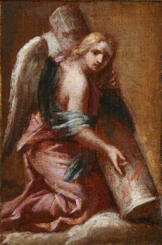 An Angel Holding the Column