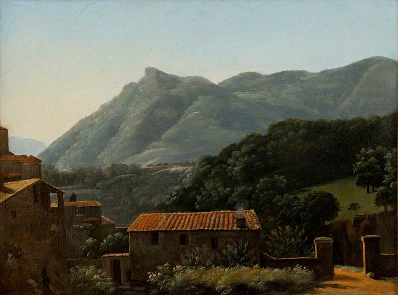 View of the Valley of the Arno from Vallombrosa, Early Morning