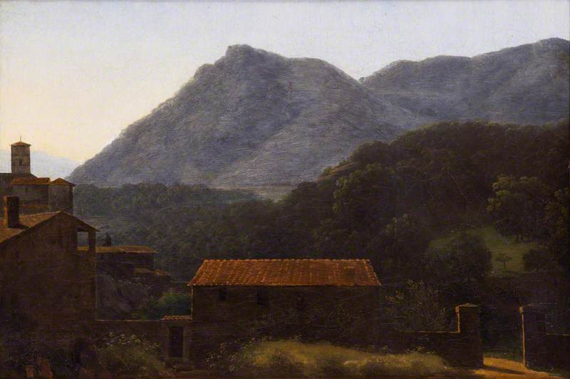 View of the Valley of the Arno from Vallombrosa, at Dawn