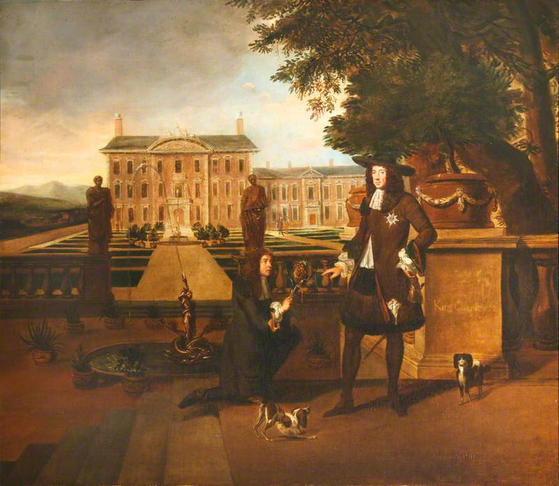 Called 'John Rose (1619–1677), the Royal Gardener, Presenting a Pineapple to Charles II (1630–1685)'