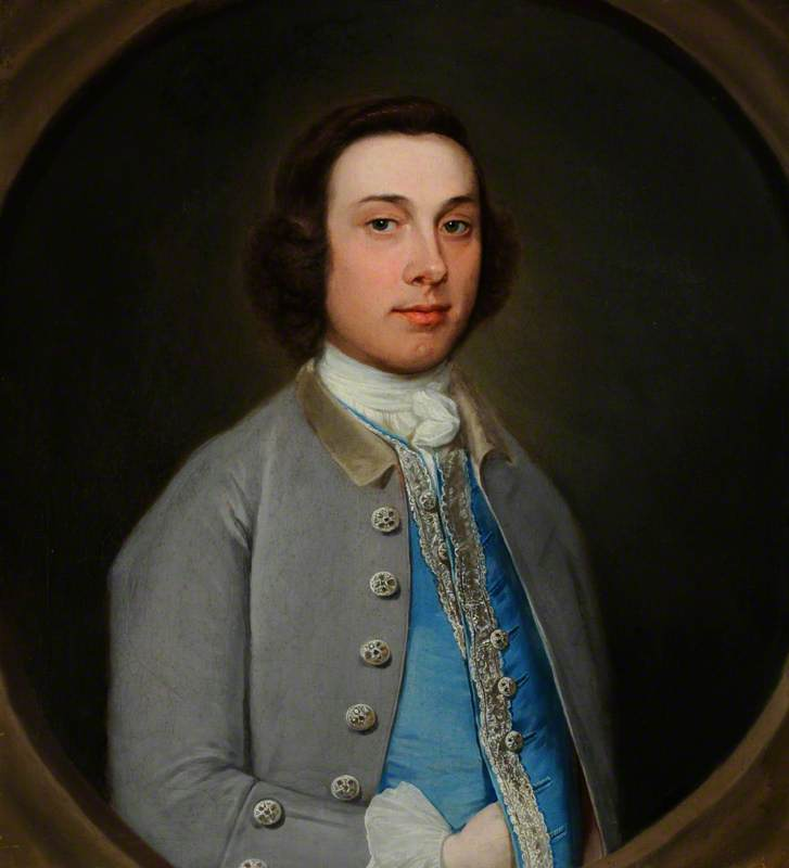 Portrait of an Unknown Young Gentleman in a Grey Coat and Light Blue Waistcoat