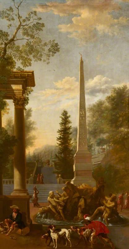 A Capriccio with Bernini's Central Fountain on the Piazza Navona, Rome