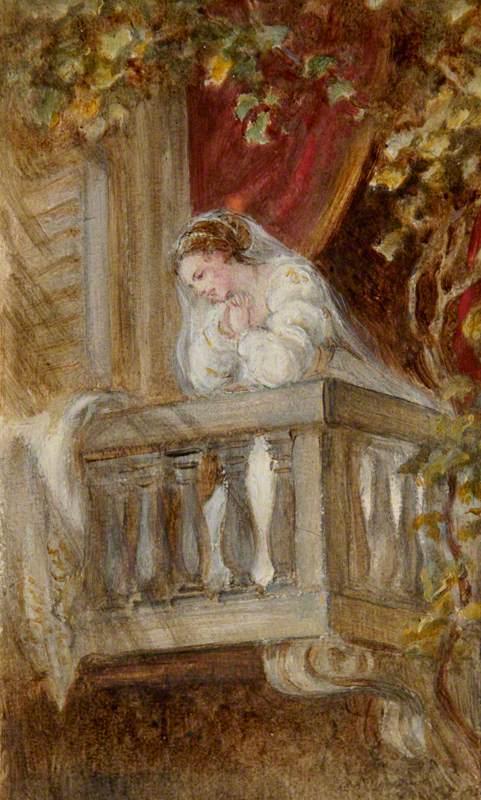 Dame Ellen Terry (1847–1928), as Juliet in the Balcony Scene, William Shakespeare's 'Romeo and Juliet'
