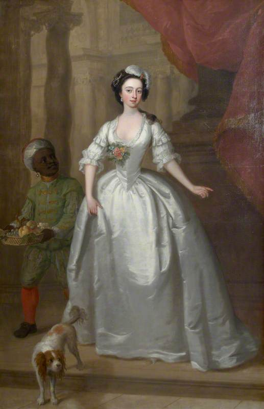 Mary Helden (1726–1766) with a Dog and Her Black Page, 'Sambo'