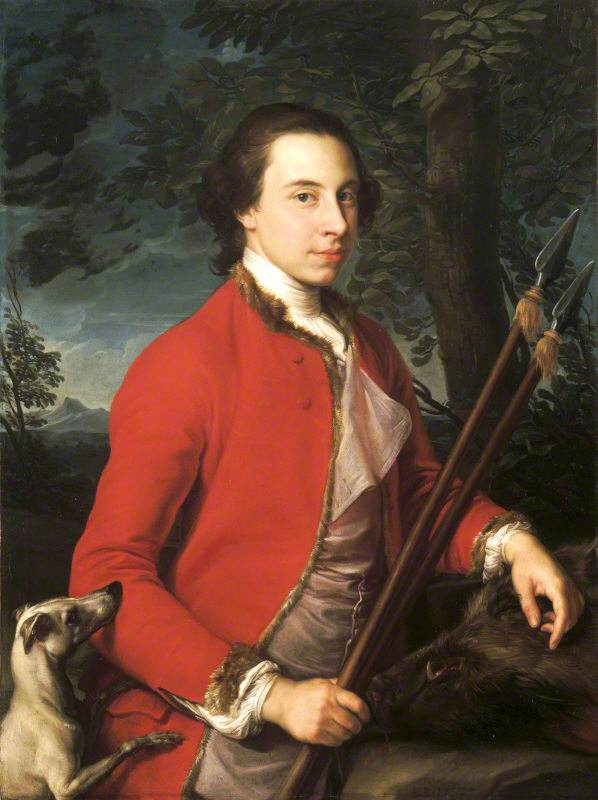 Benjamin Lethieullier (1728/1729–1797), MP, with Two Wild Boar Spears