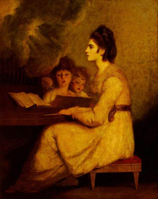 Elizabeth Linley (1754–1792), Mrs Richard Brinsley Sheridan as Saint Cecilia