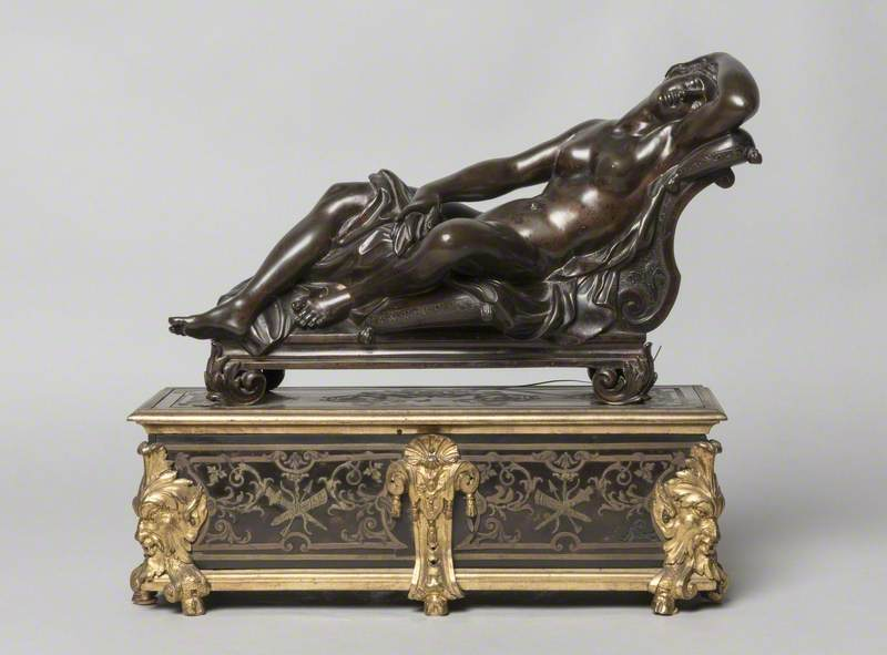 Statuette of Reclining Nymph