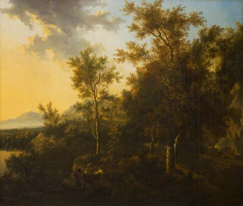 A Wooded Landscape with a Herdsman