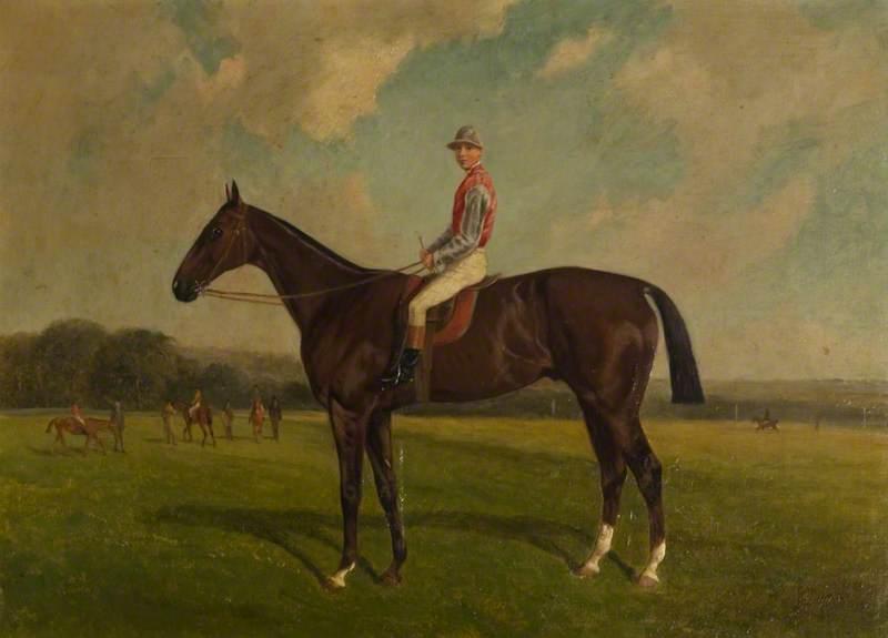 'Friday' with Jockey on a Racecourse
