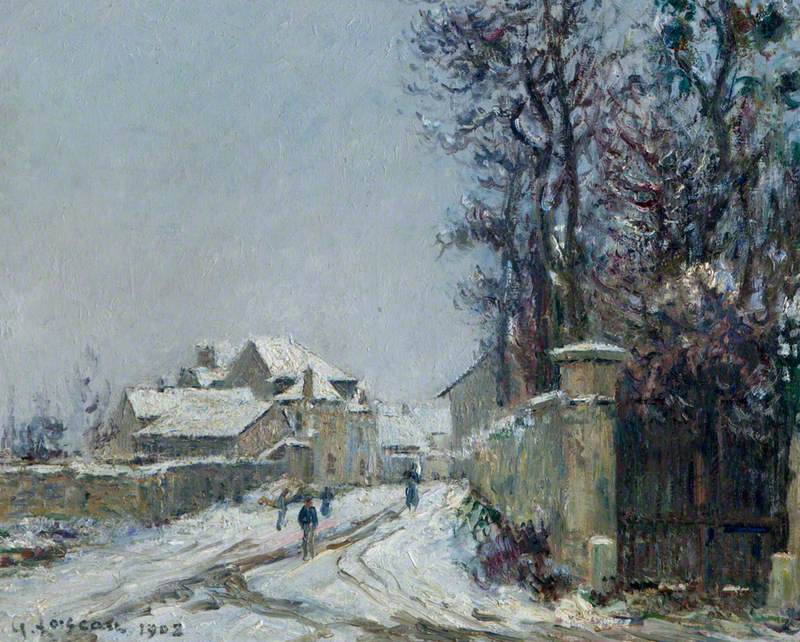 Snow at Saint-Ouen l'Aumône