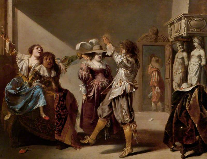 Soldiers and Women Revelling in an Interior
