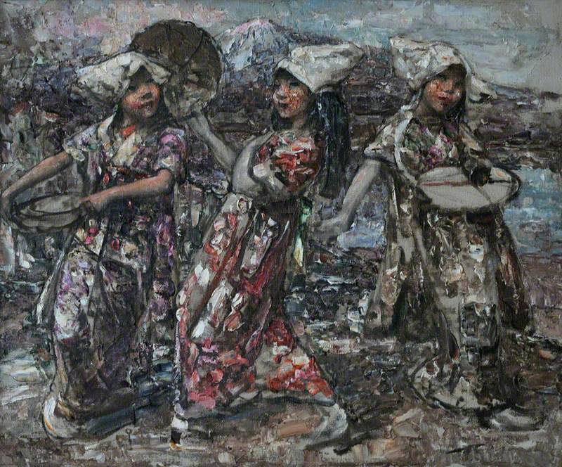 Three Japanese Peasants (Japanese Dancers)