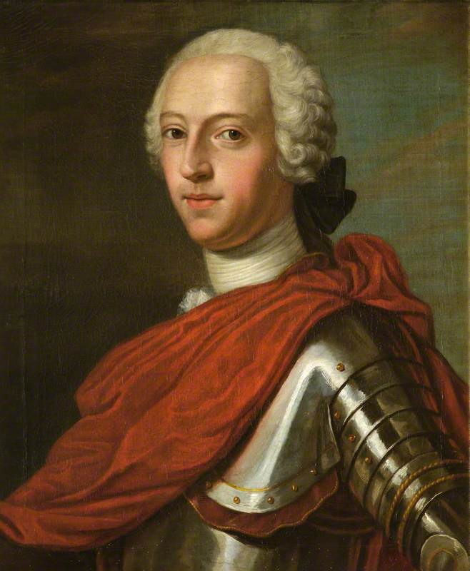 Prince Charles Edward Stuart in Armour