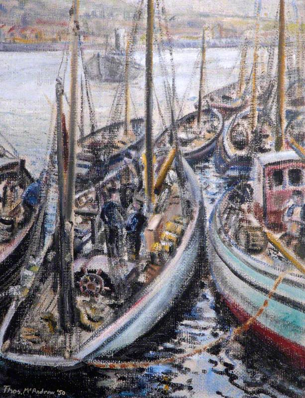 Belgian Fishing Boats at Newlyn, Cornwall
